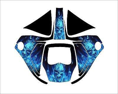 3M SPEEDGLAS 9100 fx AUTO SW JIG WELDING DECAL STICKER blue skull