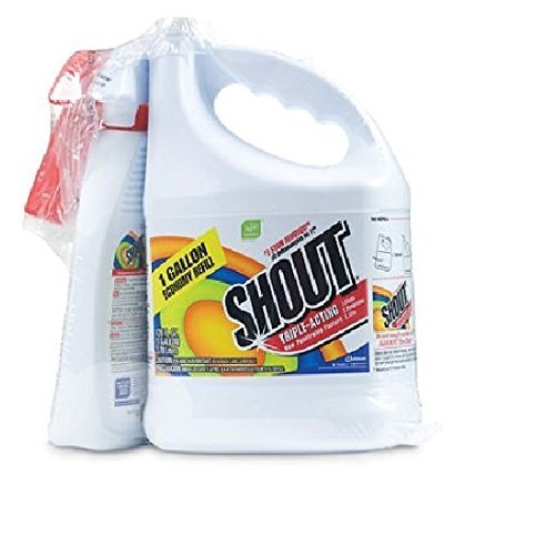 Shout Stain Remover with Extendable Trigger Hose -128 Oz + 22 Oz. (1) ()