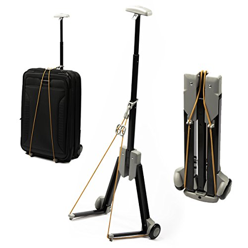 Folding Luggage Carrier Wheeled Cart Trolley Suitcase Hand