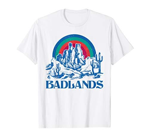 Badlands South Dakota Cactus Mountain T Shirt 70s Vintage ()