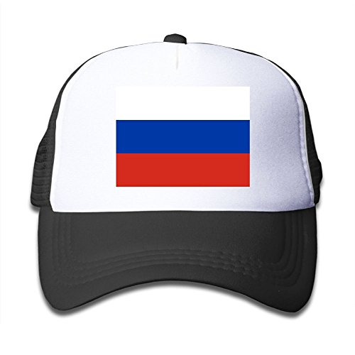 nice Futong Huaxia Flag Of Russia Boy & Girl Grid Baseball Caps Adjustable sunshade Hat For Children