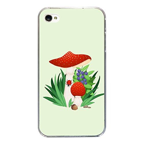 """Disagu SF-sdi-3815_1195#zub_cc3300 Design Schutzhülle für Apple iPhone 4S - Motiv """"Fliegenpilz 02"""""""