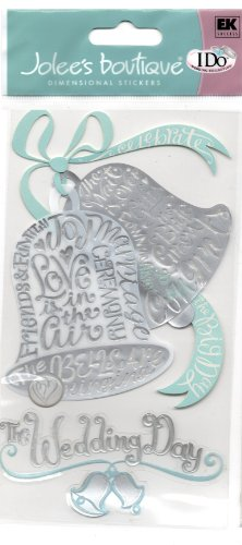 Boutique Le Grande I Do Wedding 3-D Stickers: The Bells