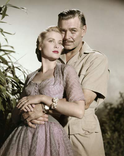 Clark Gable and Grace Kelly in Mogambo Publicity Portrait Embracing 11x14 Aluminum Wall Art
