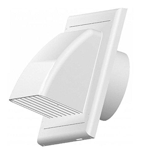 🥇 Vents – Rejilla de ventilación con revestimiento con válvula de conducto 100 mm de diámetro ABS blanco exterior Campana