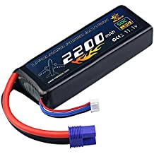 [UL&CE Certificated] melasta 3S 11.1V 2200mAh 50C Lipo Battery with EC3 Plug Connector for RC Airplane Helicopter Car Truck Boat Drone and FPV