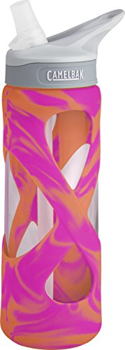 CamelBak Eddy Glass Water Bottle, Pink/Orange Swirl, .7-Liter (Swirl Water)
