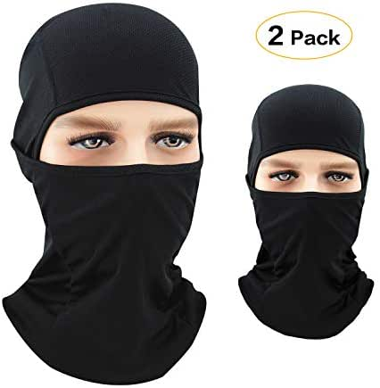 DARCHEN Balaclava Face Mask for Cold Weather Winter Face Mask for Men and Women Neck Warmer Ski Mask Black Balaclava 2 Pack
