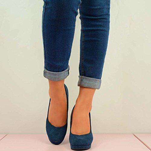 Cucu Fashion - Sandalias con cuña mujer Azul - azul