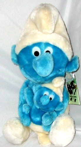 Vintage Smurf and Baby Smurf Couple 11