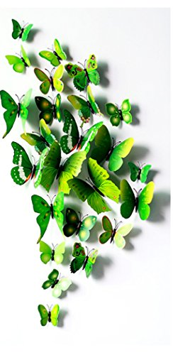 FLY SPRAY 3D Green Butterfly Removable Mural Wall Stickers Wall Decal For Home - Shopping Palm Outlets Springs