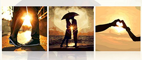 [Wooden Framed] Diy Oil Painting, Paint By Number-Eternal Love 2020 Inch by digital oil painting