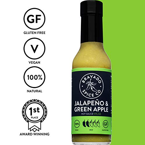 Bravado Spice Jalapeno and Green Apple Hot Sauce | Gluten Free | Vegan | All -