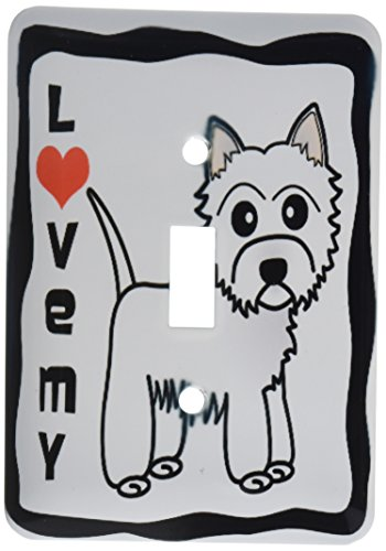 - 3dRose lsp_58610_1 I Love My West Highland Terrier - Westie Dog Single Toggle Switch Not applicble