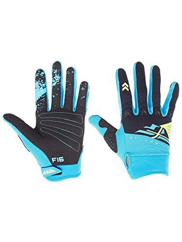 Fly Racing 2018 F-16 Gloves (MEDIUM) (BLUE/BLACK)