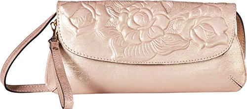 Pink Metallic Clutch Crossbody Baku Womens Nash Patricia 7XSgBYB