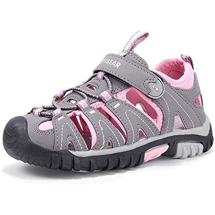 PANDANINJIA Boys Girls Kids Closed-Toe Sport Beach Sandals Summer Water Outdoor Shoes(Toddler/Little Kid/Big Kid)