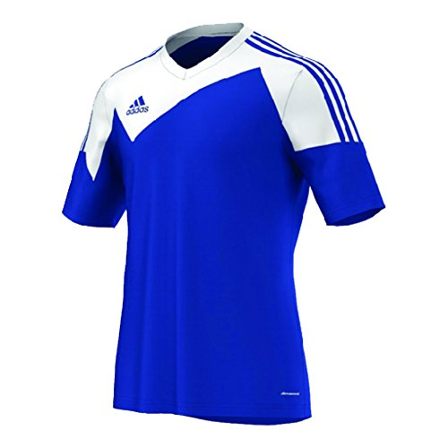 - Adidas Toque 13 Mens Short Sleeve Jersey L Bold Blue-White