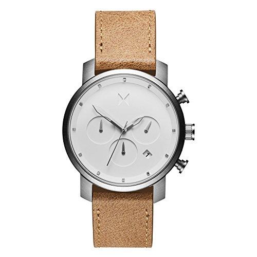 MVMT Chrono Watches | 40 MM Men's Analog Watch Chronograph | White Caramel