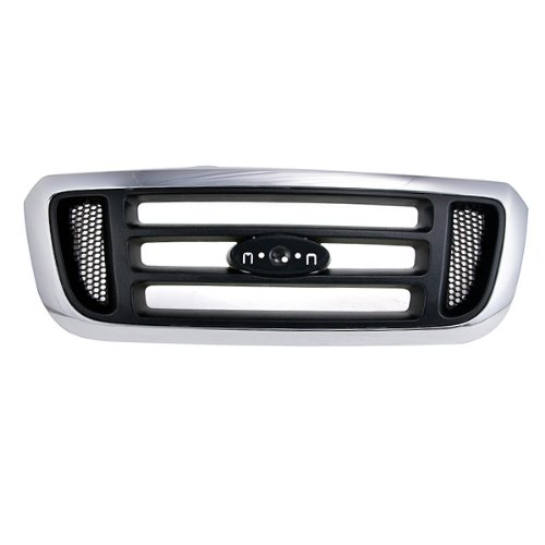 CarPartsDepot, Pickup Truck 2Wd Grill Grille Front Assembly Dark Argent Center Bar Honeycomb Side Insert, 400-18145 Fo1200455 - Inserts Side Grill