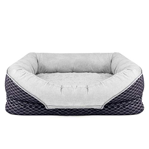 AsFrost Dog Bed, Orthopedic Dog Beds with Removable Washable Cover, Memory Foam Pet Bed for Dogs & Cats, Nonslip Bottom Pet Beds for Sleep (Small – 20″ x 16″, Grey)