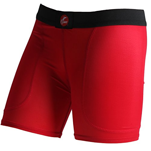Low Rise Slider - Cramer,Women's Low-rise Softball Sliding Shorts w/Polyester Cloth Padding,Red,Medium