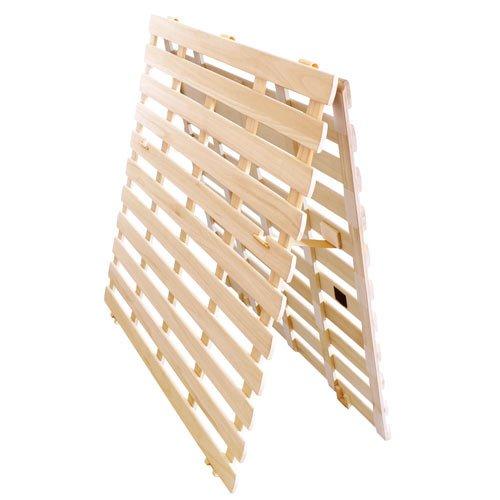 タンスのゲン すのこマット シングル 天然桐 折りたたみ 二つ折りタイプ リブ加工 完成品