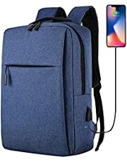 15.6 inch laptop backpack with charging hole