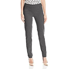 Women's Wide Band Pull-On Straight Leg Pant With Tummy Control