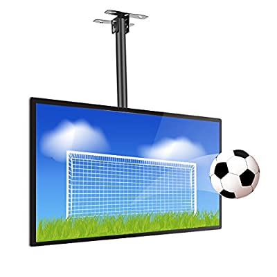 Ceiling TV Mount Wall TV Bracket 26~60 Inch Flat Panel Televisions, Adjustable Height Telescoping Tilt and Swivel