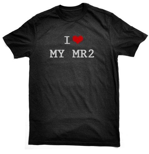 I LOVE MY MR2 T-SHIRT, black, by Bertie, free worldwide shipping