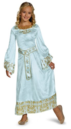 Disguise Disney Maleficent Movie Aurora Girls Blue Dress Deluxe Costume, Large/10-12