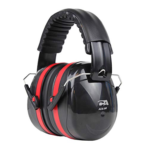 Cyber Acoustic Professional Safety Heavy Duty Ear Muffs for Hearing Protection and Noise Reduction for Air Traffic Ground Support, Construction Work, Hunting/Shooting Ranges, and more ()