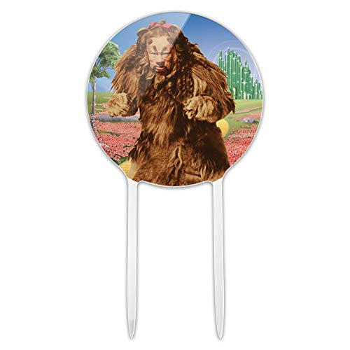 GRAPHICS & MORE Acrylic Wizard of Oz Lion Character Cake Topper Party Decoration for Wedding Anniversary Birthday Graduation