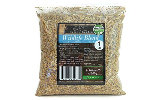 Wildlife Blend, Food Plot and Forage Seed Mix - by Eretz - Willamette Valley, Oregon Grown - Seed Blend Wildlife