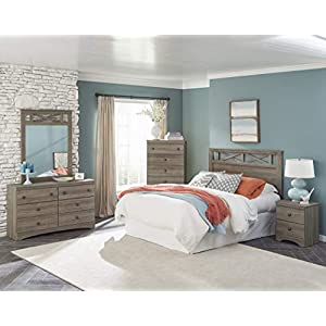 American Furniture Classics Five Piece Bedroom Set, grey