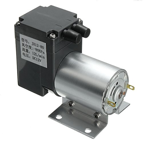 DC 12V Mini Vacuum Pump Negative Pressure Suction Pump 12L/min 120kpa With Holder by INNI (Image #2)