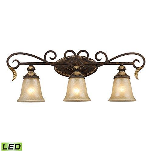 Crystal Sconce Bellacor (Elk Lighting 2152/3-LED Vanity Light Burnt Bronze)