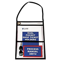 C-Line - Shop Ticket Holders, Stitched, Both Sides Clear, 9 x 12, 15/BX 38912 (DMi BX