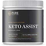 Pure Prescriptions Keto Assist - Exogenous Ketone Powder Supplement - Ketogenic Diet Formula for Energy, Focus and Fat Burn - Beta-Hydroxybutyrate (BHB) Salts - Raspberry Lemonade