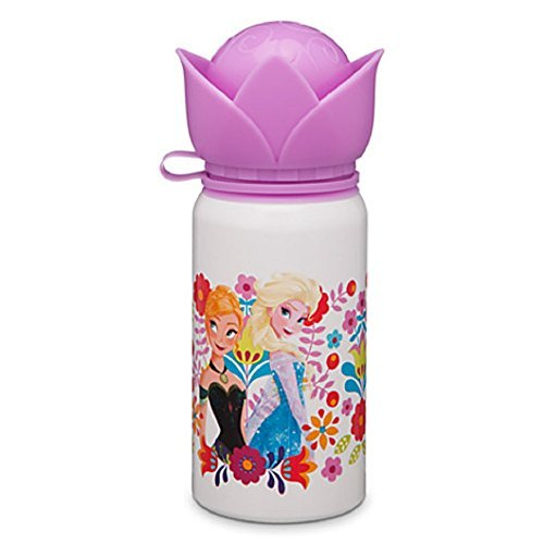 Disney - Anna and Elsa White Aluminum Water Bottle - Small - New by Disney