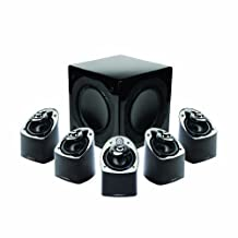 Mirage MX 5.1-Channel Miniature Home Theater Speaker System Set of Six, Black