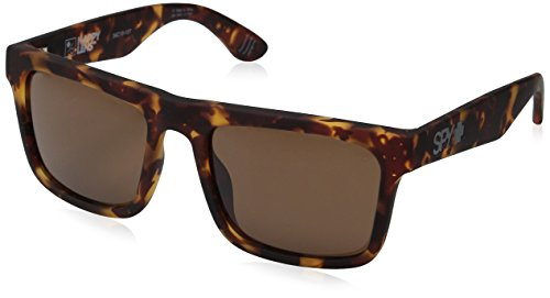 Spy Optics Atlas Polarized Wayfarer Sunglasses, Soft Matte Camo Tort/Happy Bronze, 1.5 - Helm Sunglasses Spy