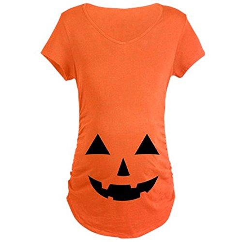 CafePress Jack-O-Lantern Maternity T-Shirt Cotton Maternity T-shirt, Side Ruched Scoop (Jack Maternity T-shirt)