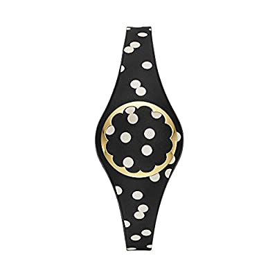 kate spade new york black and white dot scallop activity tracker