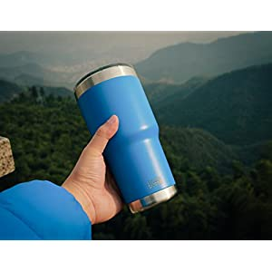 Bottlebottle 30 oz Insulated Tumbler Cup Stainless Steel Travel Coffee Mug, Glacier Blue