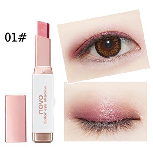 Silvercell Eye Shadow Stick Waterproof Double Colors Gradient Shimmer Eyeshadow Pen (Best Eyeshadow Palette For Asian Skin)