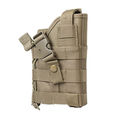M1SURPLUS Tan Ambidextrous Modular Tactical MOLLE Holster Fits Glock 17 20 21 22 37 31 , SIG P229 P226 P250 SP2022 Mosquito , Hk H&k USP P2000, S&W M&P , Beretta M9 92 96 PX4 PX9 Storm, Taurus 24/7 OSS PT92, CZ75, FN FNX FNS Springfiled XD Colt .45 Kimber