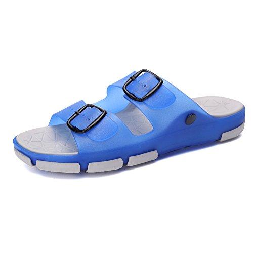 Spiaggia Sunny Blue Gray Estivo Infradito Antiscivolo Sandalo da Uomo da TqYPzTr