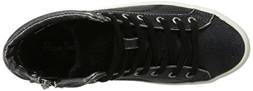 Clinton Noir Pepe Hautes Baskets Black Sally Jeans Femme 8RxqxYp5